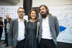 El técnico de Proyectos de Cooperación en Farmamundi, Albert Vañó, junto a los compañeros de Farmamundi Susana Albert y David Turró.