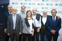 Antonio Bugeda, Juan Carlos Moltó, Salvador Valero, Mª José Ruiz, Antonio Espejo, el ex miembro de Junta de Farmamundi, Ricardo Sanchís, y José Luis Daroqui.