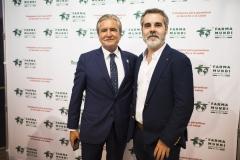 Los farmacéuticos José Luis Daroqui y Fernando Pérez.