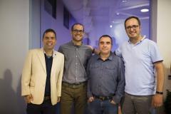 Los técnicos de Proyectos de Cooperación de Farmamundi, Ernesto Urbano, Vicente Merino, el director del área, Emilio Oriola, y Juan Manuel Canales.