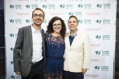 Los técnicos de Proyectos de Cooperación, Albert Vañó y Ernesto Urbano, junto a la ex cooperante de Farmamundi en RDCongo, Ana María Pérez