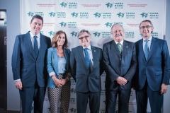 El vicepresidente del COF de Madrid, Manuel Martínez del Peral, junto a Cristina Tiemblo, Ricard Troiano, Michel Catapodis y Enrique Ordieres.