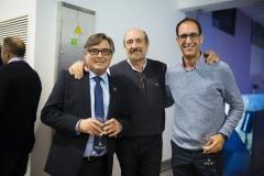 Ricard troiano, el ex secretario general de Farmamundi, Antonio Espejo, y Salvador Valero.