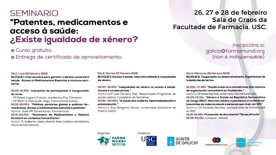 Debatimos sobre la desigualdad de género en salud con el alumnado de la Facultad de Farmacia de Santiago