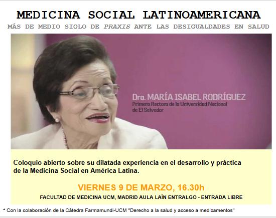 La primera rectora de la Universidad de El Salvador aborda en una charla la situación de la medicina social latinoamericana