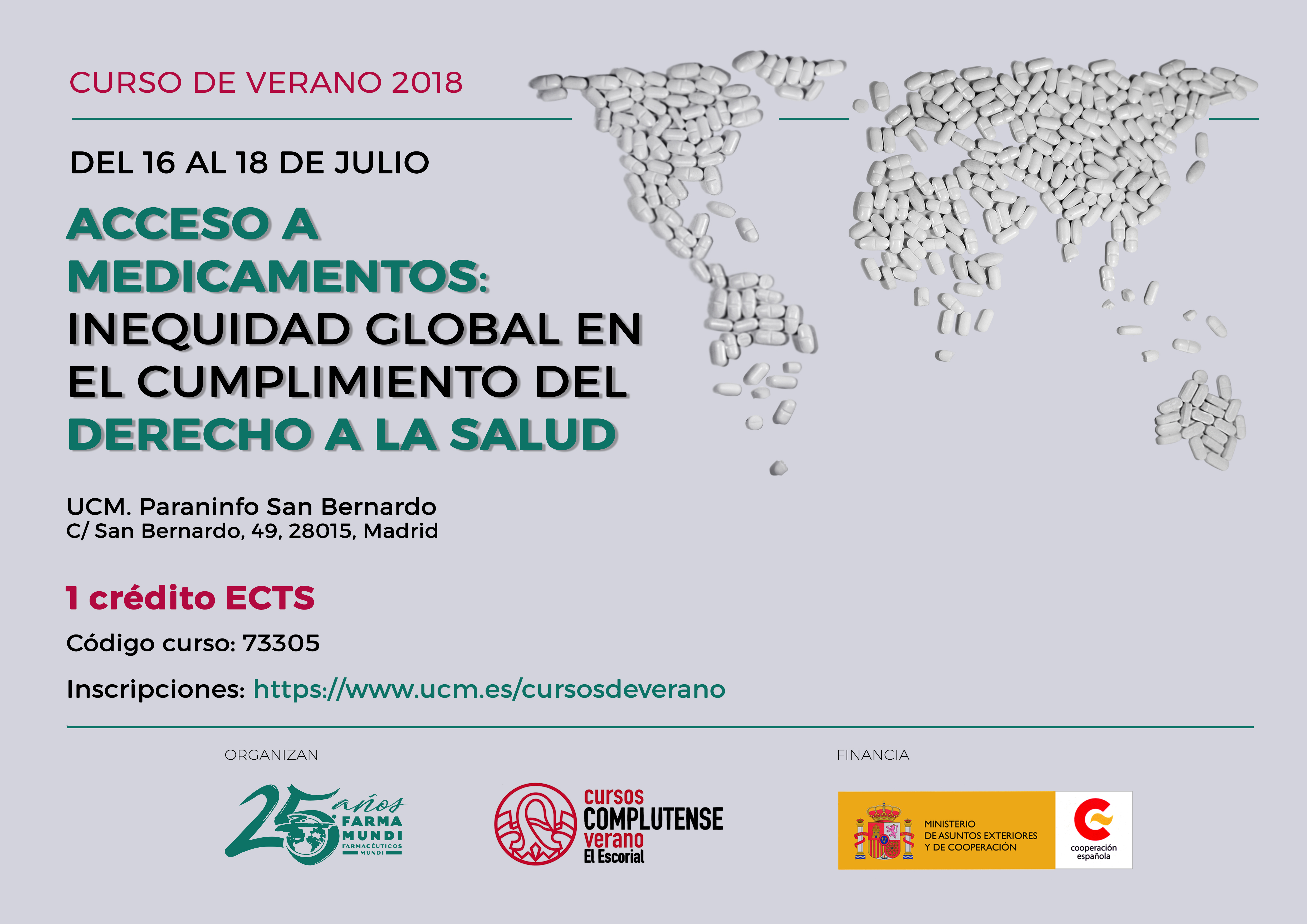 Curso de verano Cátedra Farmamundi | Acceso a medicamentos: inequidad global