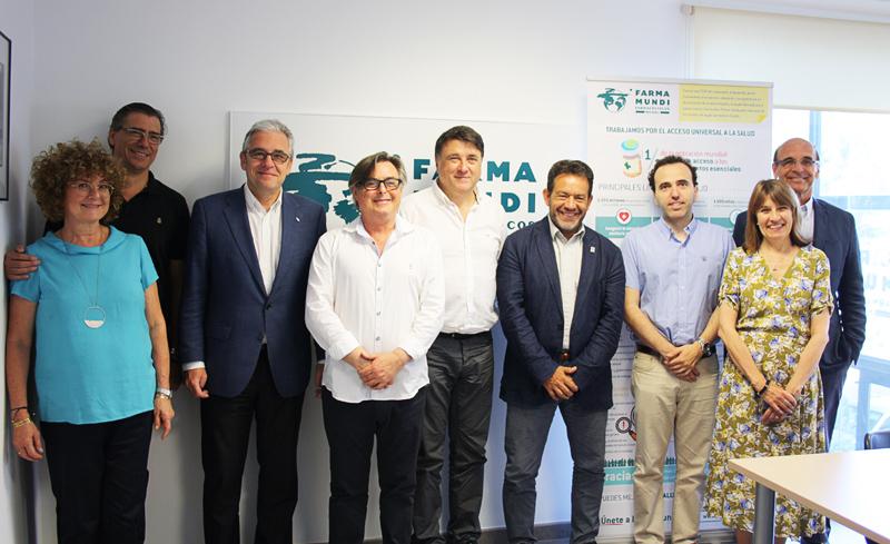 En su visita a nuestro almacén de suministros de medicamentos, reforzamos la alianza con el Consell de Col·legis Farmacèutics de Catalunya