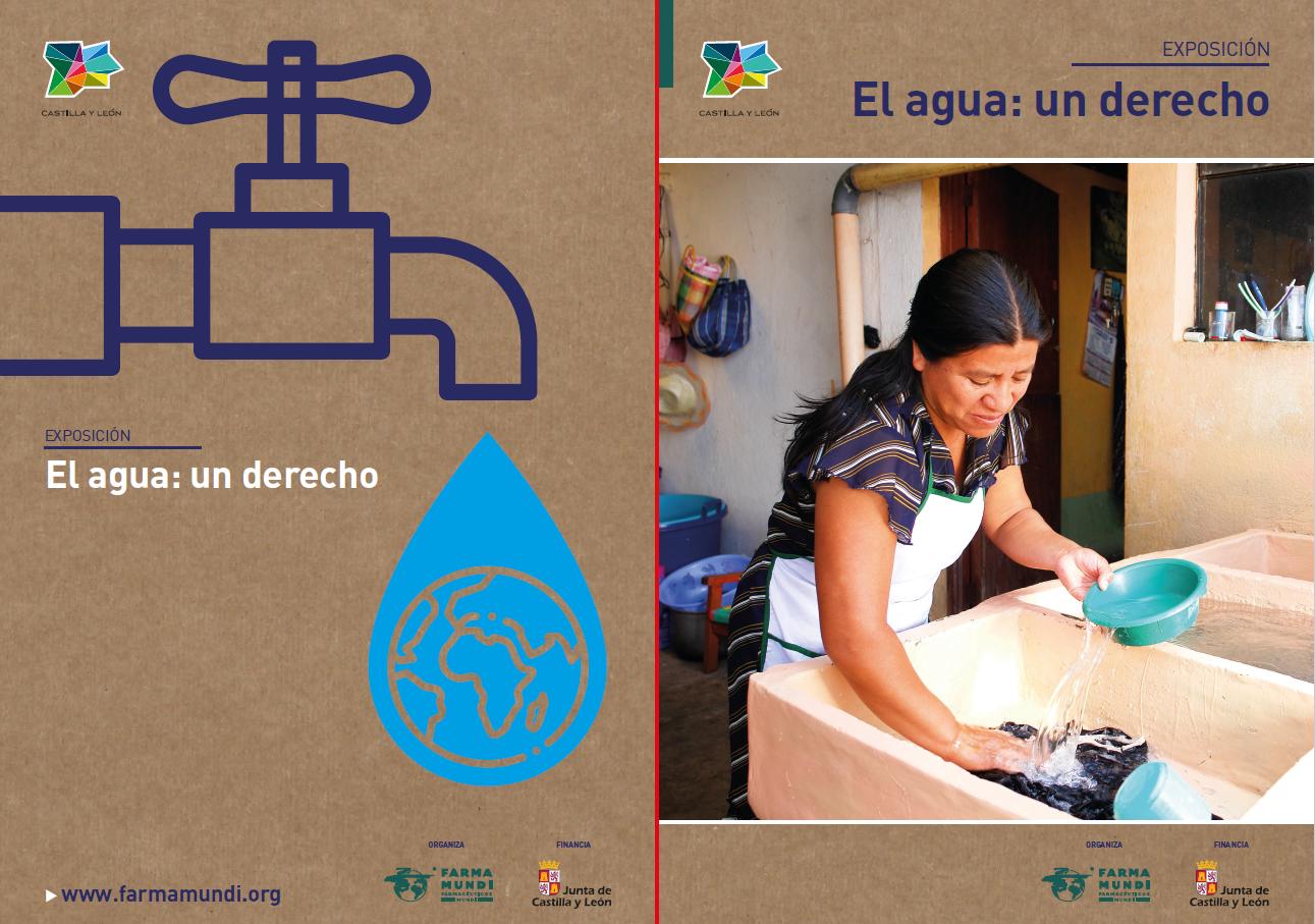 Exposición sobre el acceso al agua realizada con Farmamundi