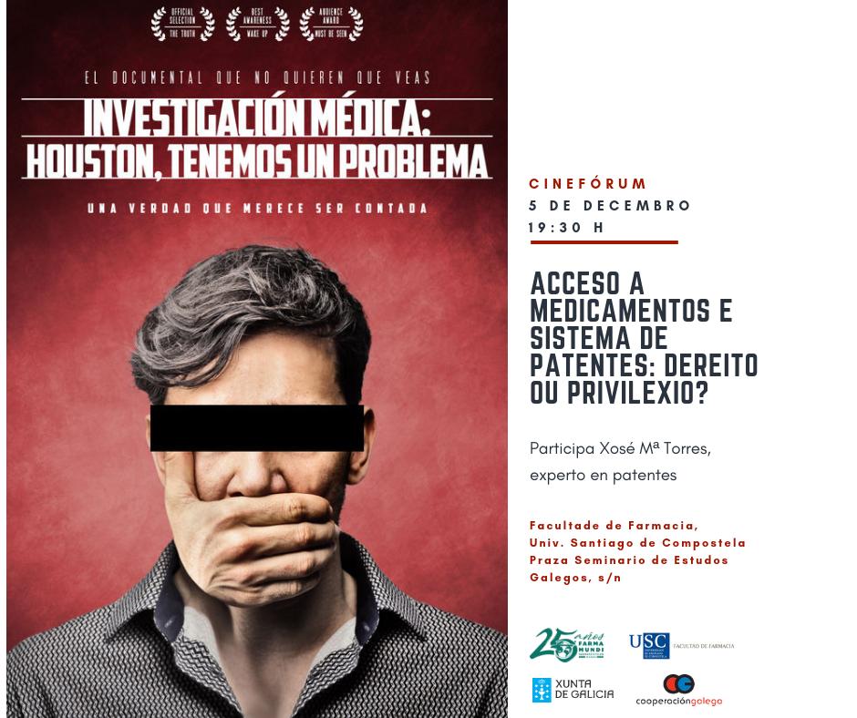 Farmamundi organiza un cinefórum sobre el acceso a los medicamentos