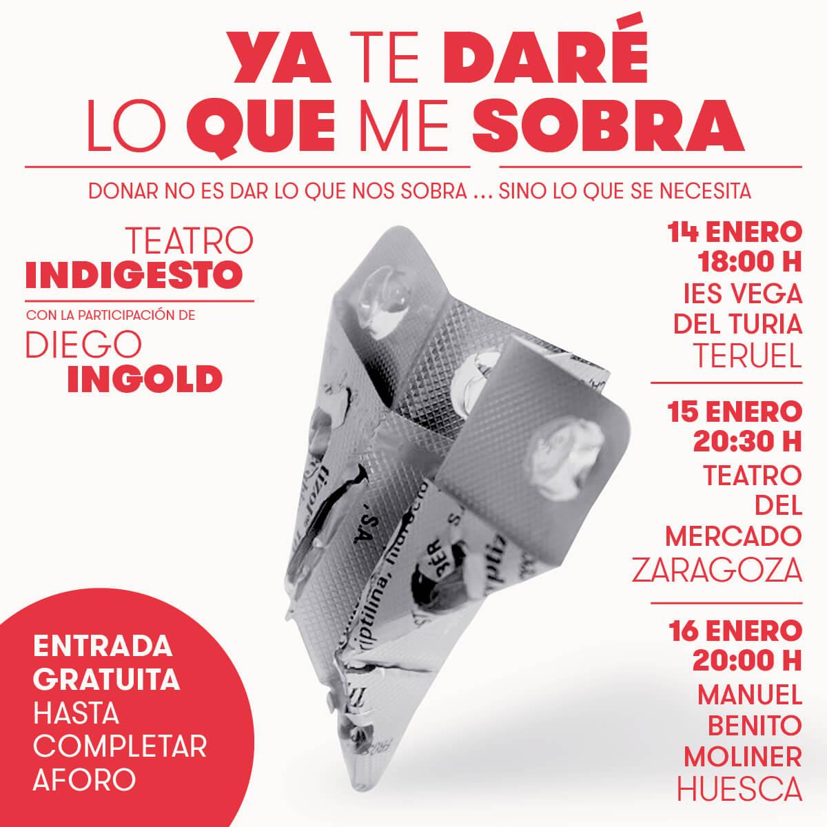 Una gira teatral en Aragón ayuda a reivindicar las donaciones responsables de medicamentos