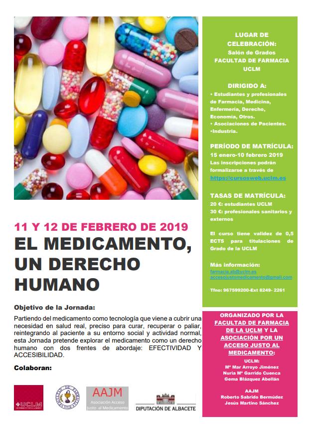 Jornada sobre el derecho al acceso al medicamento en la Facultad de Farmacia de la UCLM