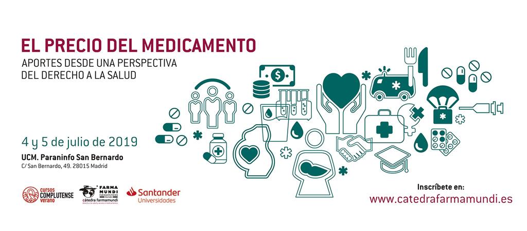 Farmamundi organiza un curso de verano en 2019 dedicado al precio del medicamento