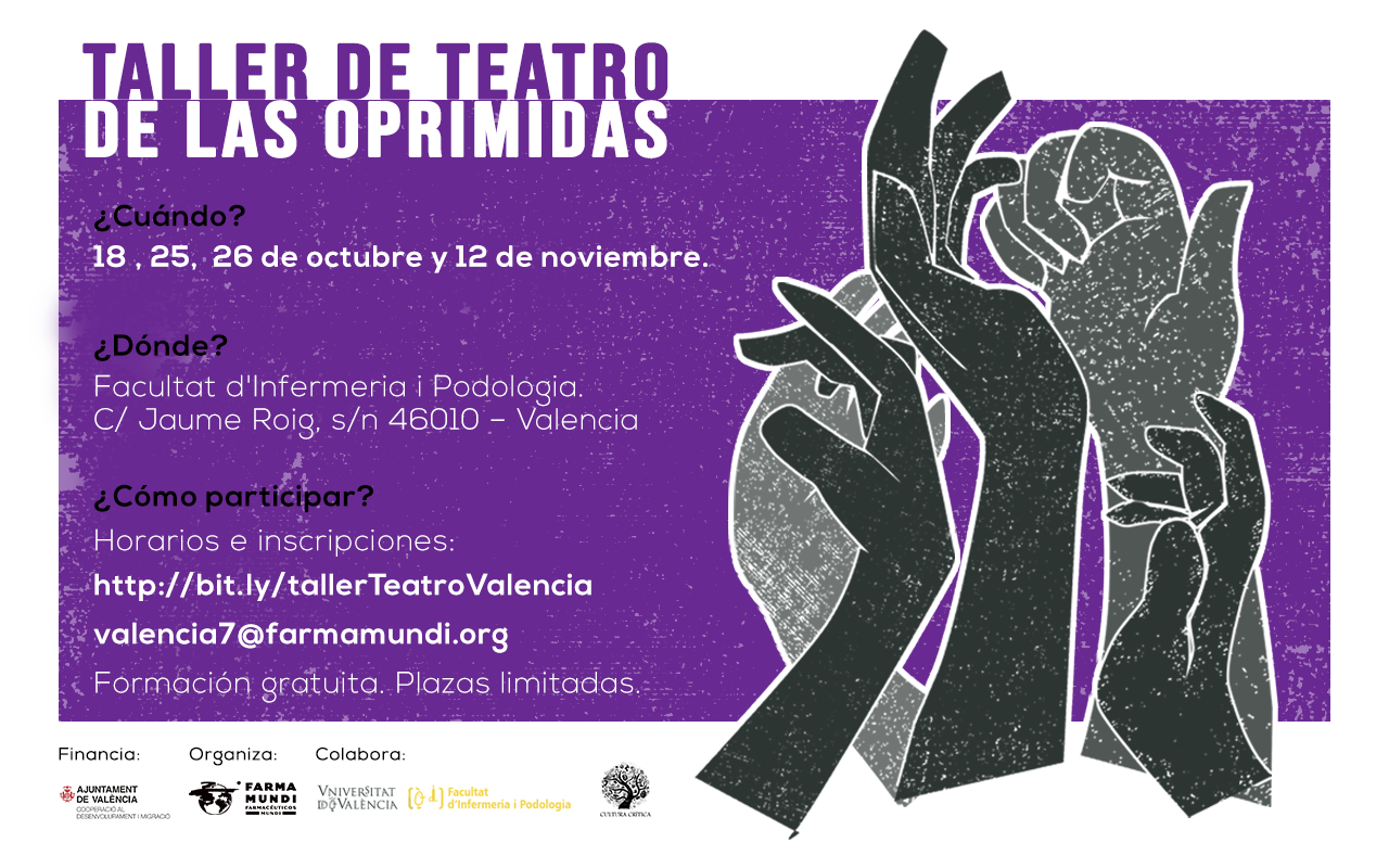 Farmamundi organiza el taller de Teatro de las Oprimidas en Valencia