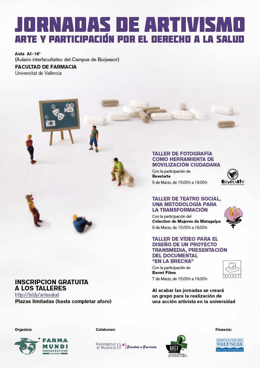 Movilizamos a artivistas de la Facultad de Farmacia de Valencia por el derecho a la salud