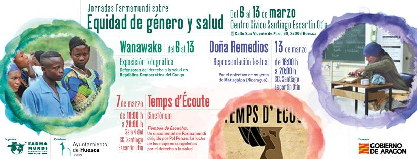 Presentamos en Huesca las jornadas sobre equidad de género y salud