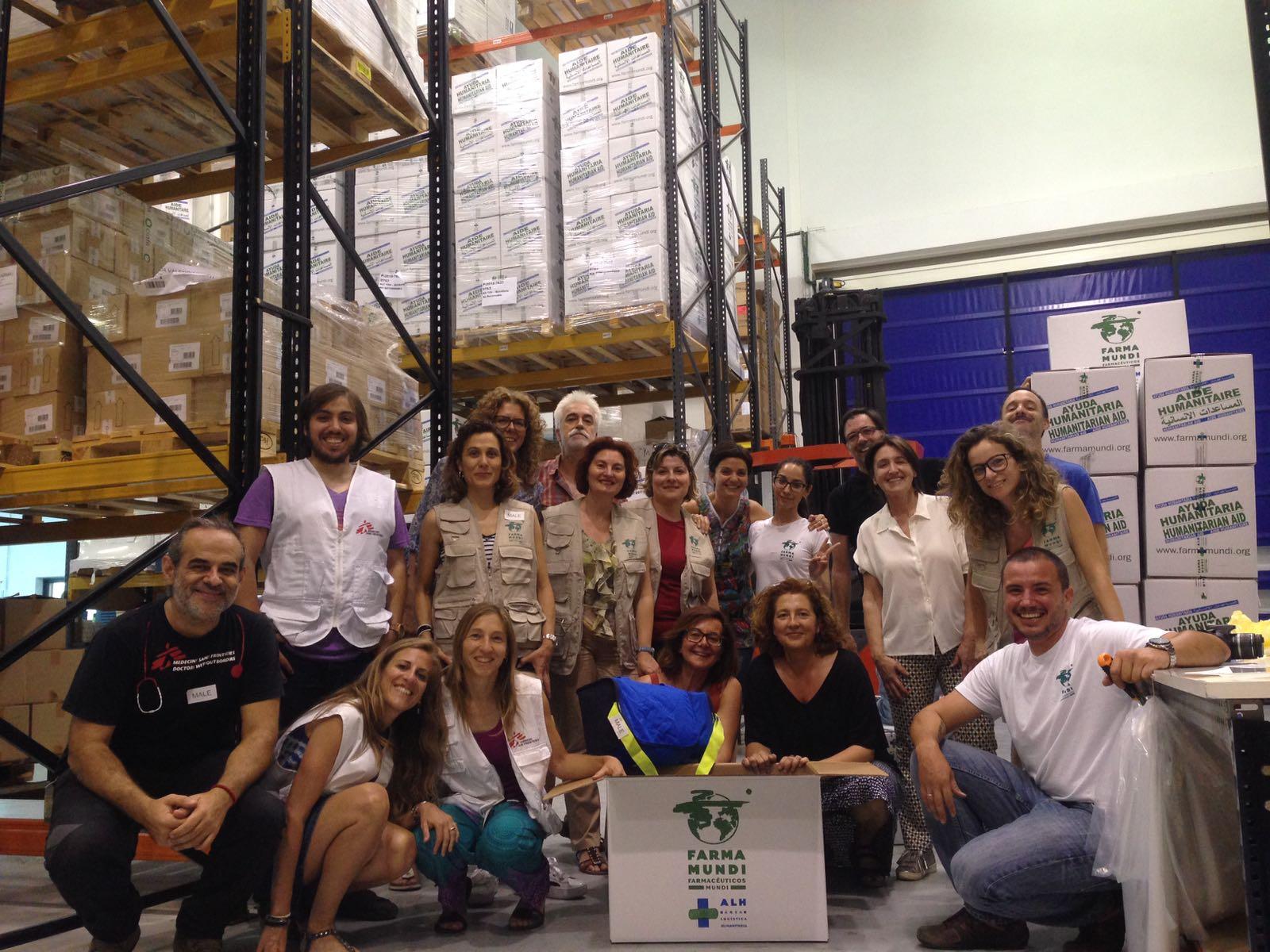 Suministramos 400 kits de rescate a MSF para aprovisionar el Aquarius