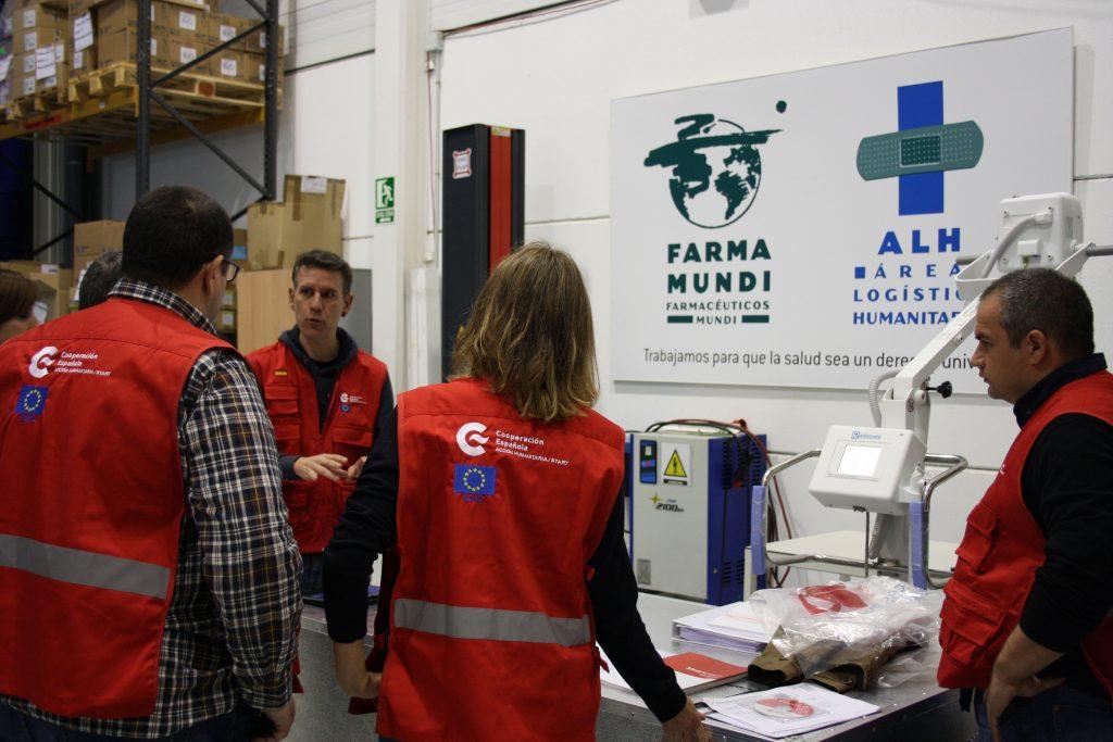 Farmamundi colabora en el hospital de emergencias con, por ejemplo, el aparato de rayos x