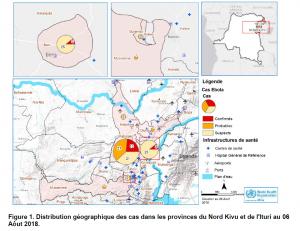 El mapa de la OMS señala la evolución del nuevo brote de ébola