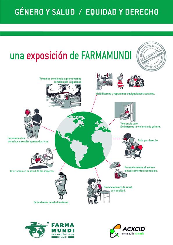 Un centro de educación secundaria en Cáceres acoge la exposición sobre género y salud