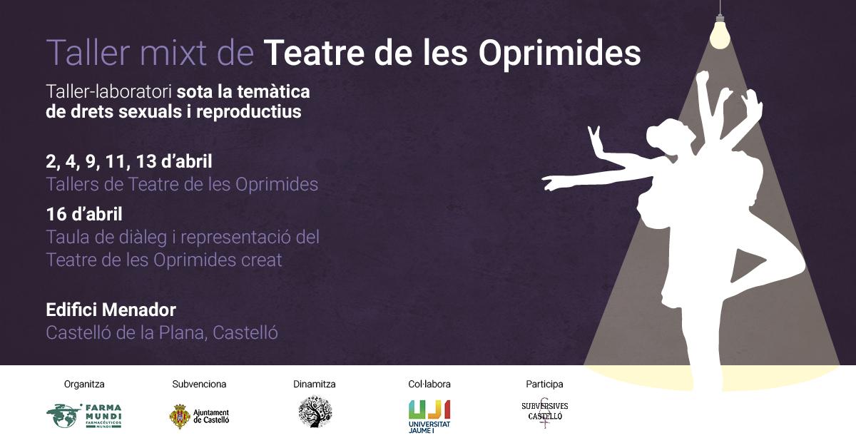Farmamundi organiza en Castellón un taller de teatro de oprimidas sobre género y salud