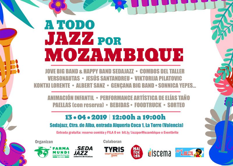 Farmamundi y el colectivo de músicos Sedajazz organiza el concierto solidario 'A todo jazz por Mozambique'