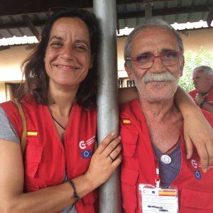 Miriam López y Antonio Mateu, voluntarios de Farmamundi, participaron en el hospital START, coordinado por la AECID, durante la emergencia de Mozambique