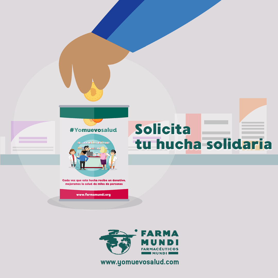 Las farmacias solidarias pueden colaborar con Farmamundi mediante la hucha solidaria
