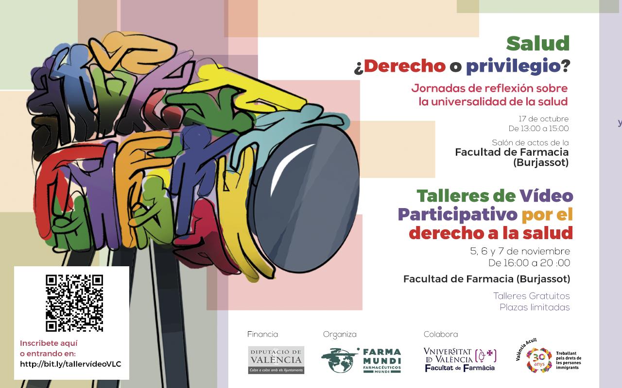 Farmamundi organiza un taller de vídeo participativo en Valencia con el apoyo de la Facultad de Farmacia de la Universitat de València