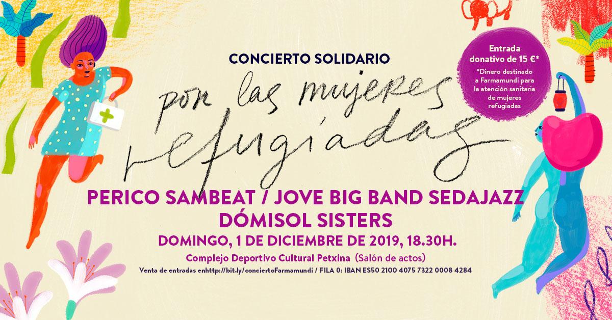 Sedajazz, Dómisol Sisters y Perico Sambeat, unidos por las mujeres refugiadas en Valencia