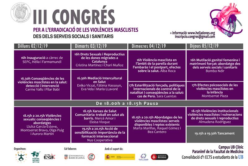 Farmamundi participa el tercer congreso por la erradicación de las violencias machistas desde los servicios sociales y sanitarios, en Barcelona