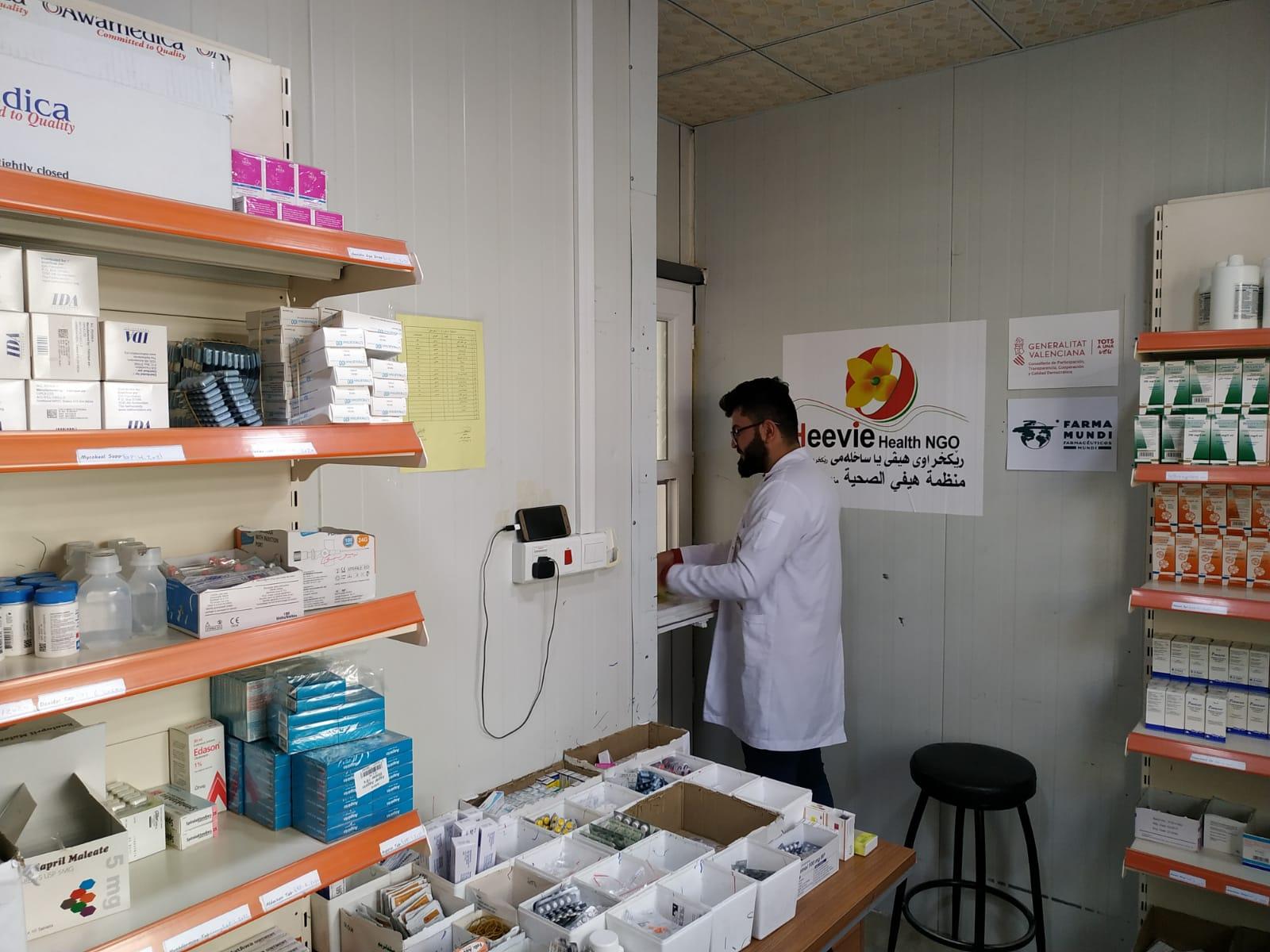Dotamos de medicamentos y material sanitario a tres campos de desplazados de Irak