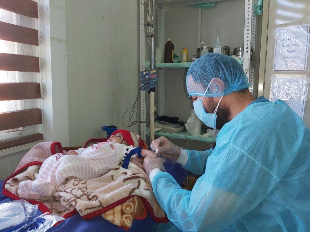 Atención sanitaria en Shariya por Covid19