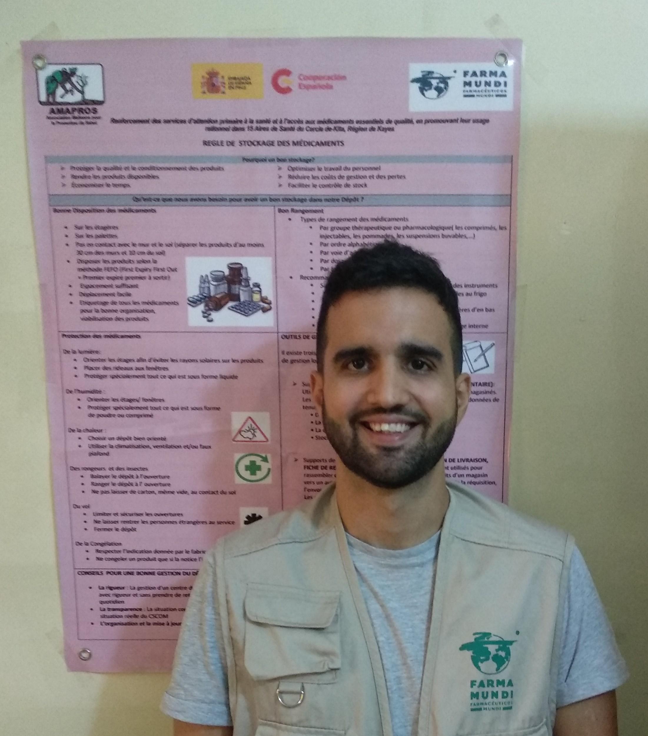 Aday Serrano cooperante de farmamundi en mali