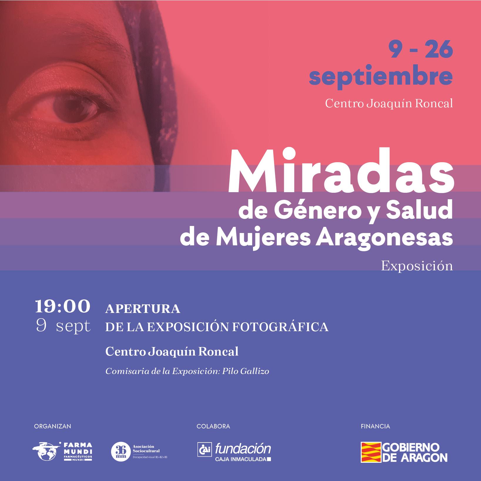 La exposición 'Miradas de Género y Salud de mujeres aragonesas' aterriza en Zaragoza