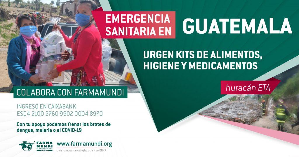 cartel donaciones emergencia Guatemala