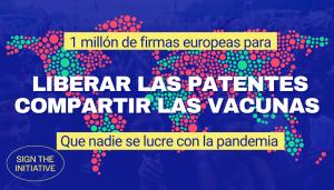cartel iniciativa europea para liberar a las vacunas covid de las patentes