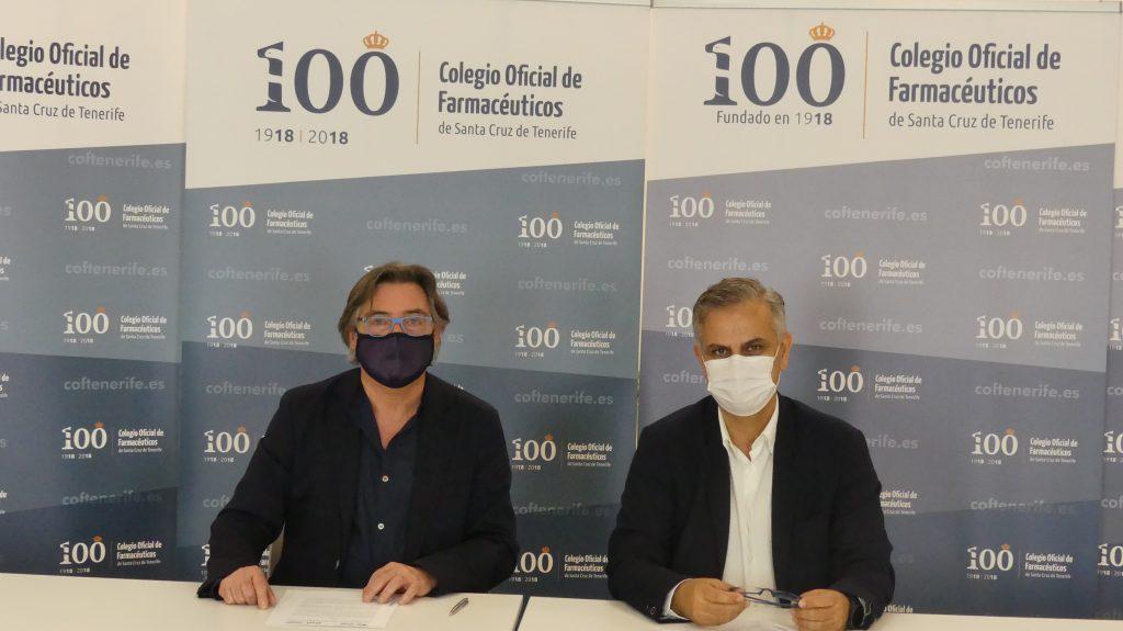 Firma convenio FAHE con Cof Tenerife