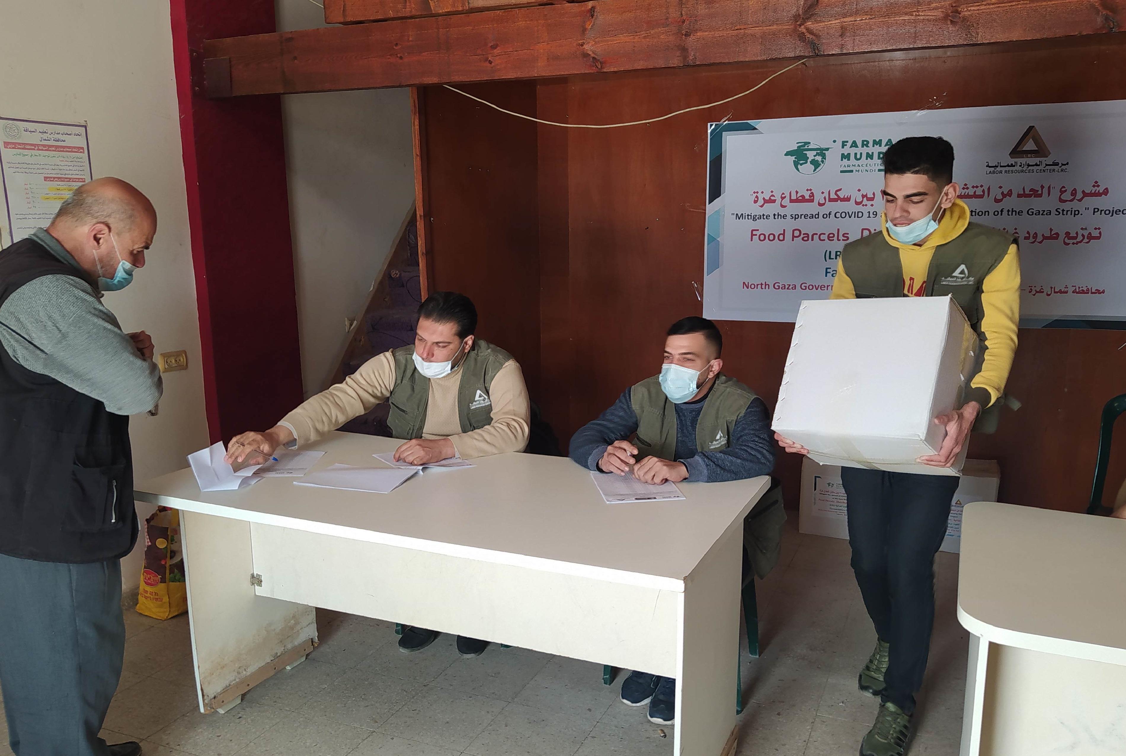 suministramos kits nutricionales a familias de Gaza