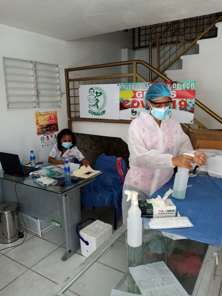 Vacunación en Santo Domingo